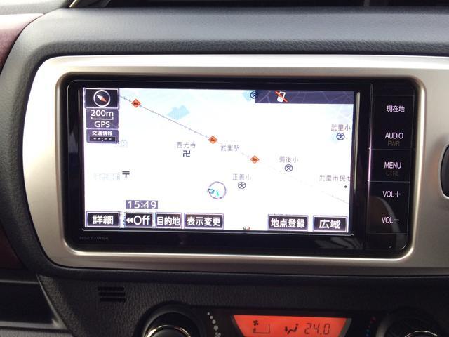 トヨタ ヴィッツ ジュエラ 純正SDナビ バックモニター ドライブレコーダー