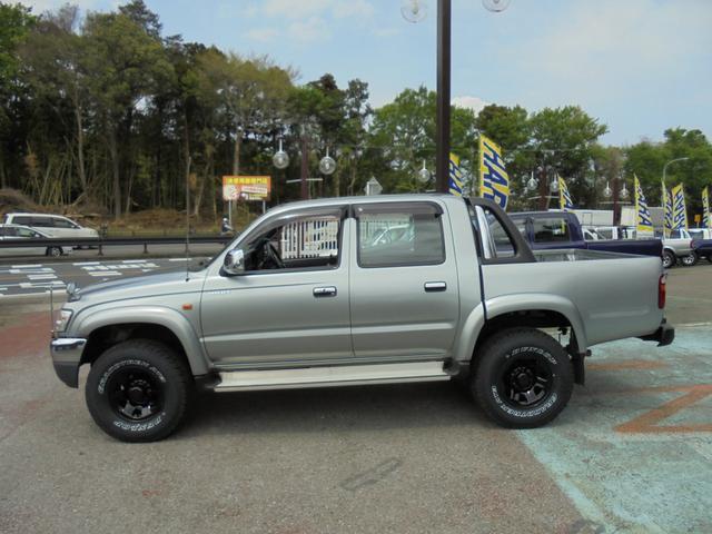 ダブルキャブ ワイド4WD 新品タイヤ ステップバンパー(3枚目)