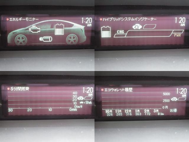 トヨタ プリウス S 地デジ対応バックガイドカメラ付純正SDナビ