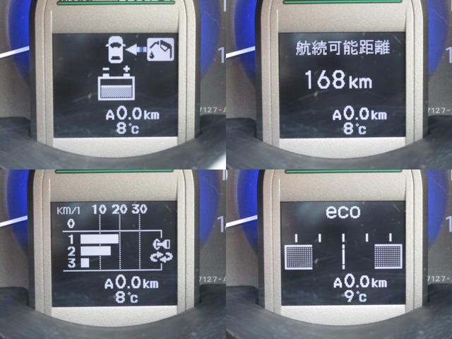 マルチインフォメーションディスプレイにエネルギーモニター・燃費等色々な情報を表示しますので、エコ運転のご参考に