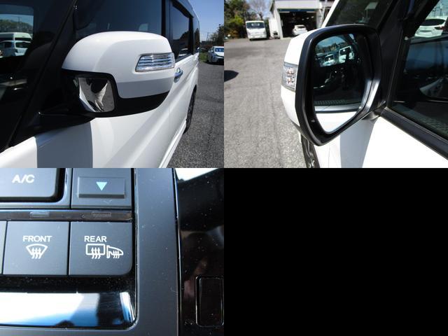 視認性の良いサイドミラーウインカー付ドアミラーで、コンフォートビューパッケージで、親水/ヒーテッドドアミラーの組み合わせ