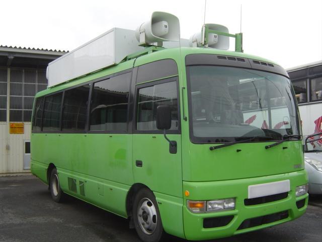 日産 シビリアンバス 放送宣伝車