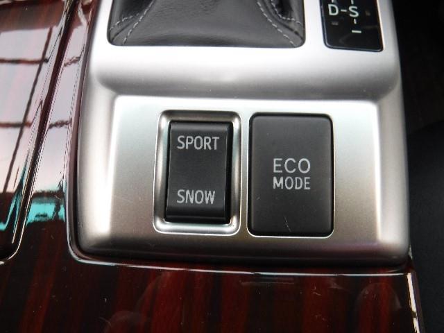 走りに合わせてECO/SPORT/SNOWモードの選択が出来ます。