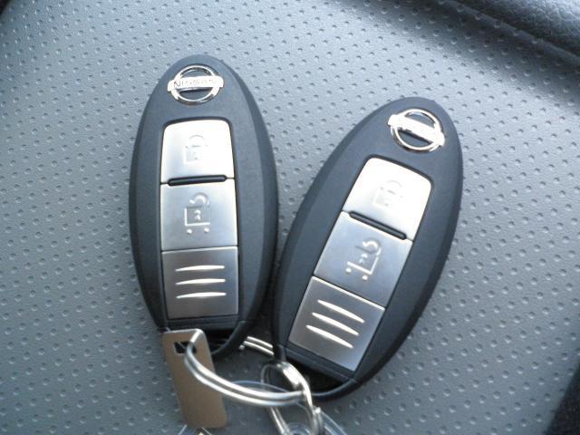 インテリジェントキーが付いてとっても便利。これがあればドアなどの開閉やエンジンの始動までらくらくです!