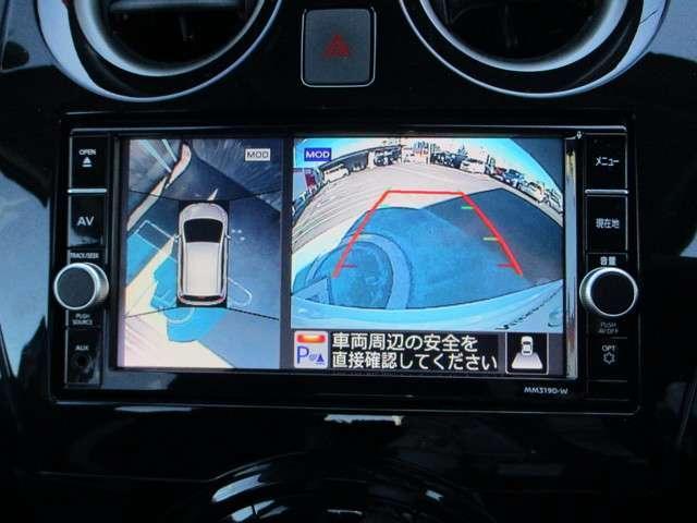 アラウンドビューモニター装備です。苦手な縦列駐車もこれがあれば安心です。