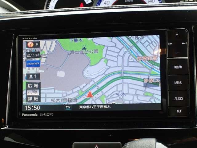 パナソニックストラーダ CN-RS02W フルセグ・DVD・CD・SD・Bluetooth対応 バックカメラ