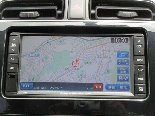 G 禁煙 7型ワイドナビ ワンセグTV CDチューナー バックカメラ アイドリングストップ ETC オートエアコン 電動格納ミラー リヤゲートスポイラー エンジンプッシュ ドアバイザー ワンオーナー(5枚目)