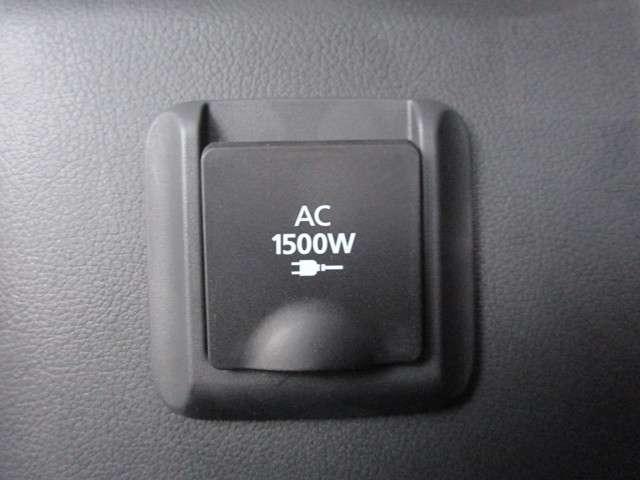人気装備のAC100V(1500W)電源が装備されております♪