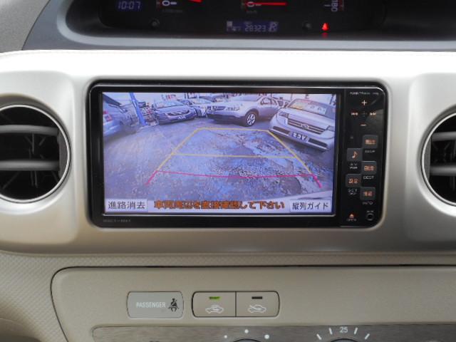 トヨタ ポルテ 150r助手席リフトUPシート 純正SDナビ Bモニター