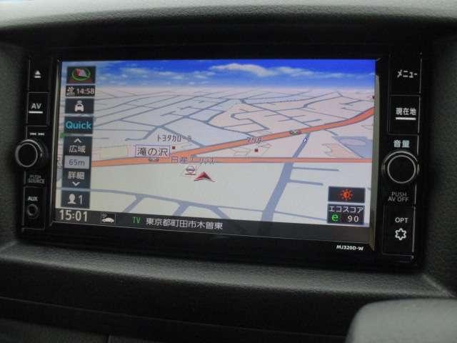 ロングプレミアムGX 純正メモリーナビ(MJ320D-W) フルセグ Bluetooth CD録音 EТC アラウンドビューモニター エマージェンシーブレーキ LEDヘッドライト オートエアコン フォグランプ(3枚目)