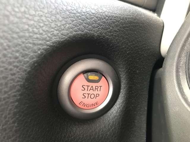 プッシュエンジンスターター!鍵を使わずにエンジン作動と停止ができ、とても便利です♪
