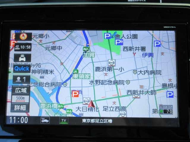 ナビはメモリーナビMM517D-Lが装備されています。