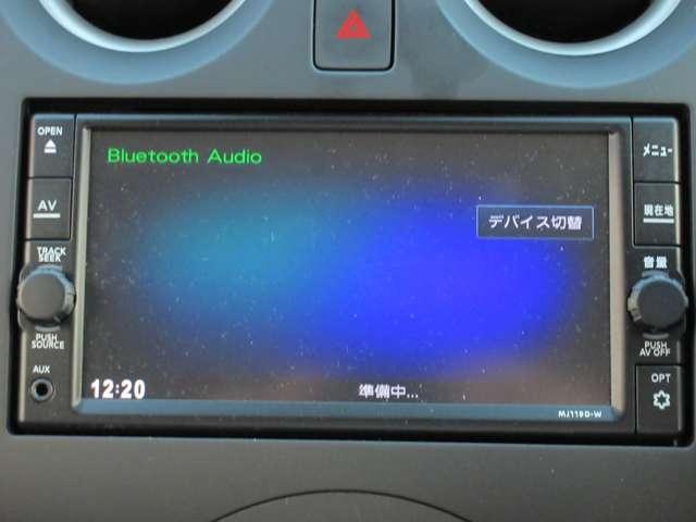 ナビはBluetoothAudio対応です。