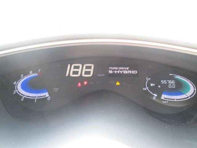燃費等の車両情報ディスプレイ表示