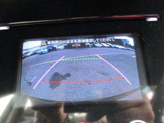 オーディオ画面がバック時、カメラ映像に切り替わりますので車庫入れも安心です☆