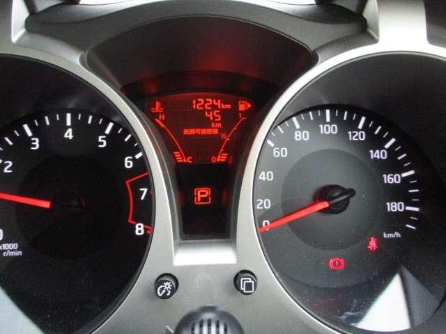 スポーティーなメーターです、走行距離は約1224KM、まだまだ走ります!