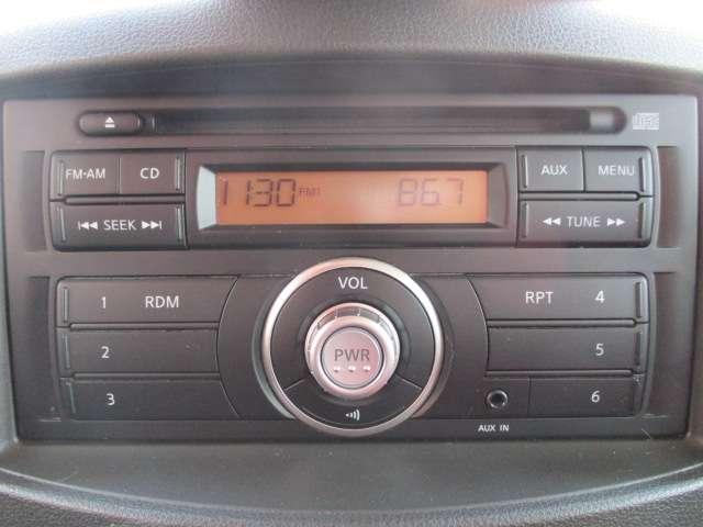 純正オーディオはボタンが見やすく使いやすいです!