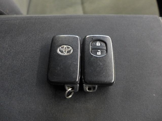 ポケットや鞄から出さずにドアロックの解錠施錠やエンジンの始動が出来る便利なスマートキー。