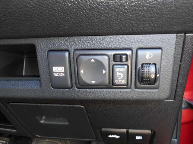 エコモードスイッチで易しい運転を・・・。