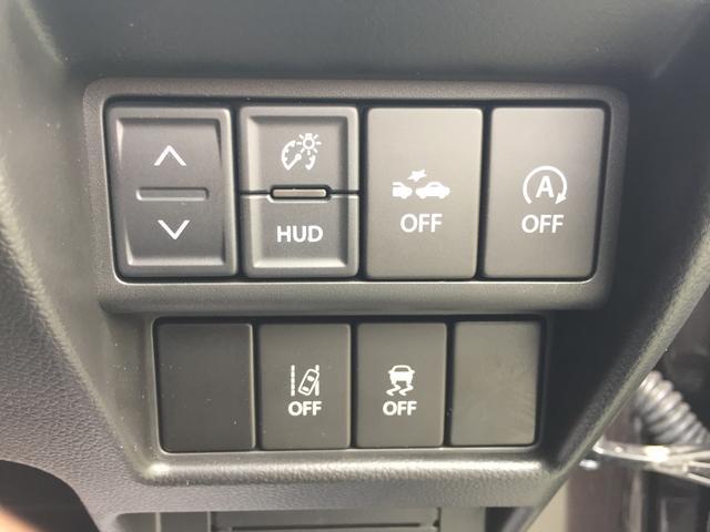 セーフティーサポート機能のOFFスイッチとヘッドアップディスプレイのスイッチです♪