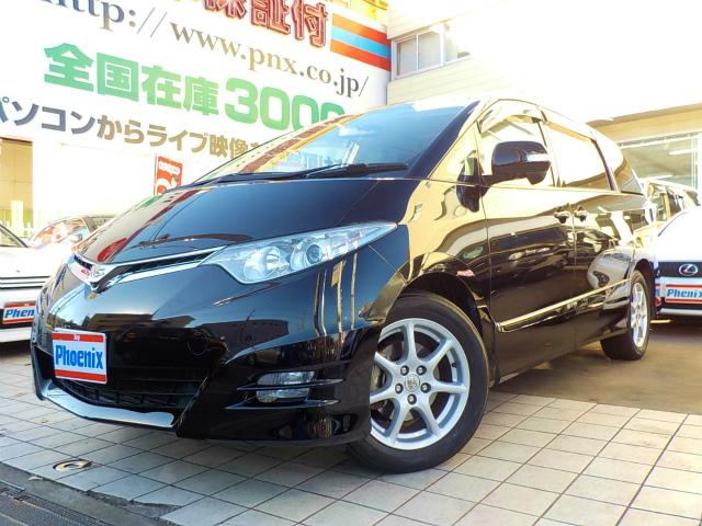 トヨタ エスティマ アエラスG-ED4WD専用HDD地デジ後席モニター1オナ