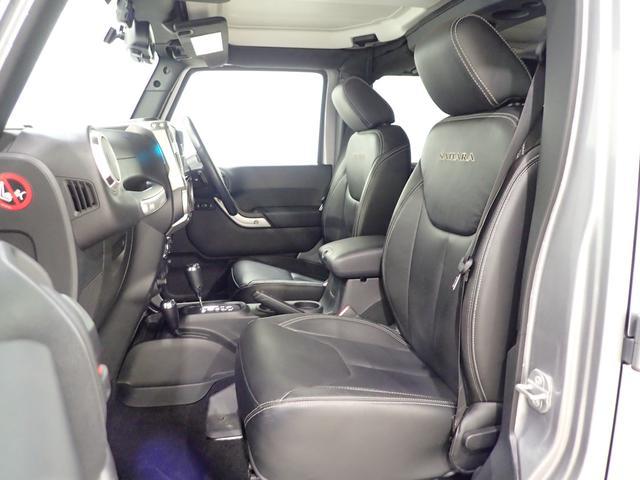 サハラ アンリミテッドサハラ レザーシート アルパイン製9インチナビ サイド/バックカメラ装備 シートヒーター付き ワンオーナー車輛 認定中古車(6枚目)