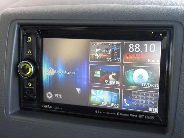 X クラリオン製ナビNX513 Bluetoothオーディオ DVD再生 ワンセグ ETC 左側電動スライドドア スマートキー 社外アルミホイール 禁煙車(6枚目)