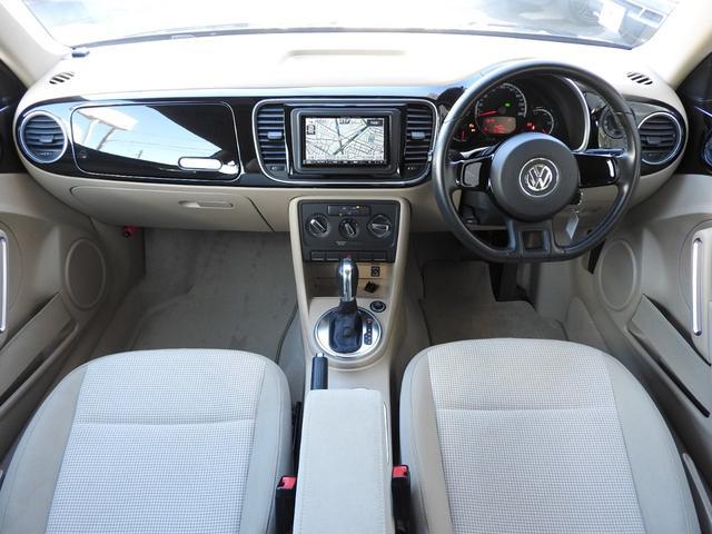フォルクスワーゲン VW ザ・ビートル デザイン ベージュインテリア 地デジナビ 新品タイヤ交換済