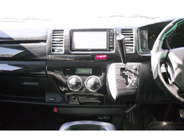 トヨタ レジアスエースバン ロングスーパーGL 社外ナビ アルパインフリップダウンモニタ