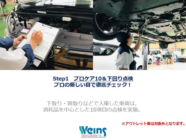 【プロの厳しい目で徹底チェック】交換の必要な部品や消耗品は交換し、ベース車として相応しくないと判断されたものははじかれます。※アウトレット車は対象外。