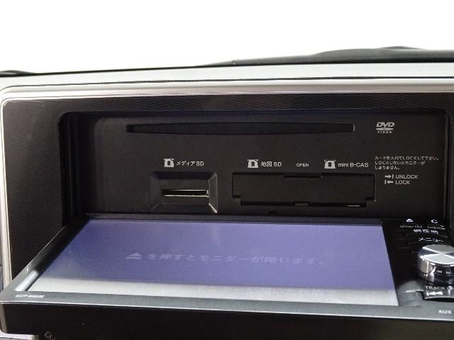 オーディオソースも多彩なナビゲーションです。DVD映像再生可能です。