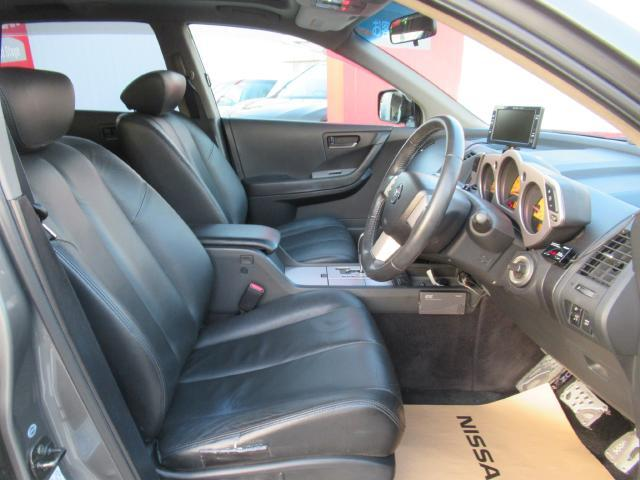 日産 ムラーノ 350XV FOUR ワンオ-ナ-車 本皮シ-ト サンル-フ