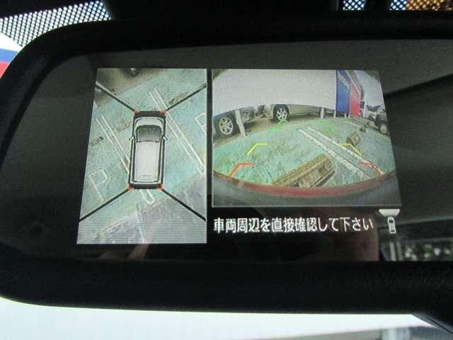 ルームミラーに映るアラウンドビューモニター装備ですので、バックや縦列駐車の際に上から見た映像があなたを安心サポート!一度使ったらやめられない!
