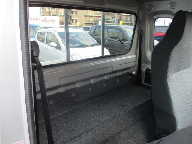ス-パ-キャリィの特徴でもある広く確保されているシートバックスペースです。