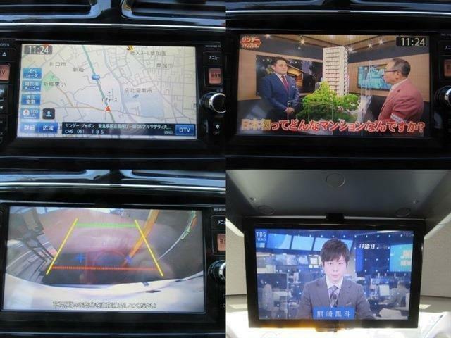 ナビ、テレビ、バックカメラ装備!更に後席用のフリップダウンモニターも装備!