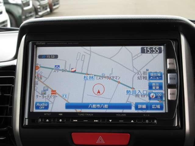 G・ターボパッケージ 認定中古車 4WD バックカメラ メモリーナビ フルセグTV 純正アルミホイール ワンオーナー 両側電動スライドドア スマートキー ETC ディスチャージドランプ オートライト(5枚目)