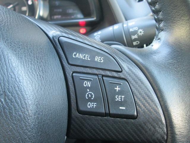 クルーズコントロールを装備。約30〜100Km/hの範囲で走行中、アクセルを踏まずに設定速度での定速走行が可能。AT車は走行状況に合ったギアを選択、燃費に貢献。下り坂でのシフトダウン制御機能も装備。