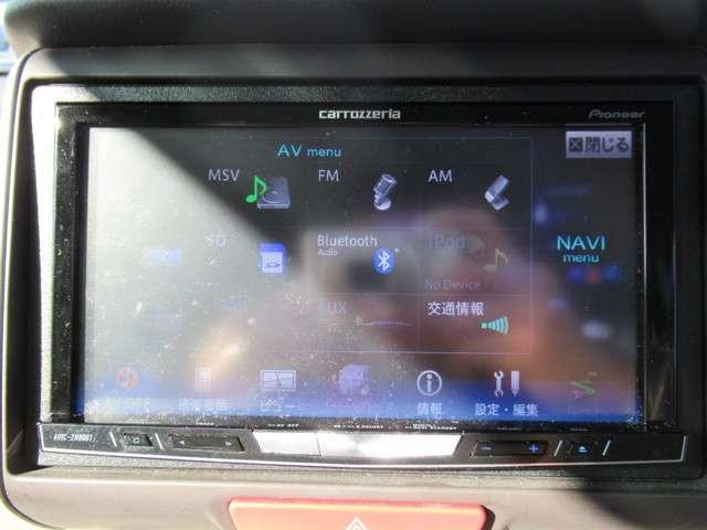 カロッツェリアHDDナビ フルセグTVを装備しています(AVIC・ZH0007)
