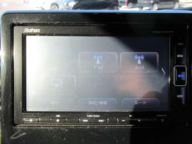 純正ギャザズメモリーナビ フルセグTVを装備しています(VXM184VFI)