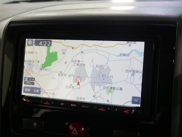 SDナビ(テレビ付)搭載で、初めての道や遠出でも安心です!もちろんCDプレーヤー搭載なので、好きな音楽を聴きながら楽しいドライブを♪