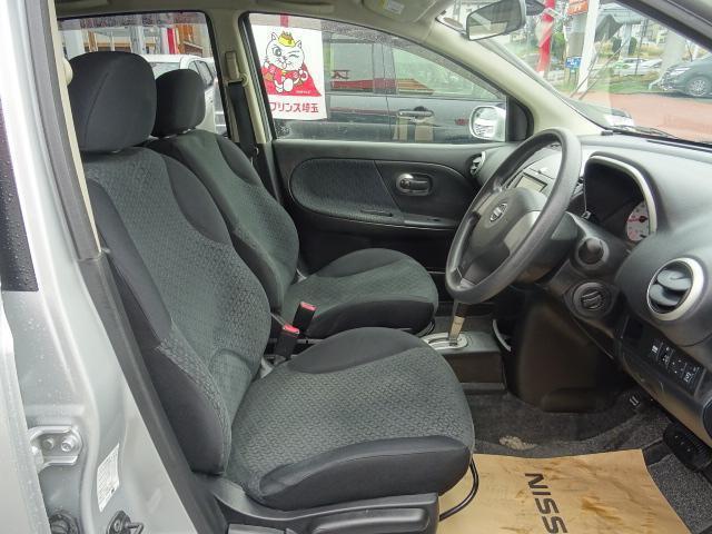 座り心地の良い運転席シート。