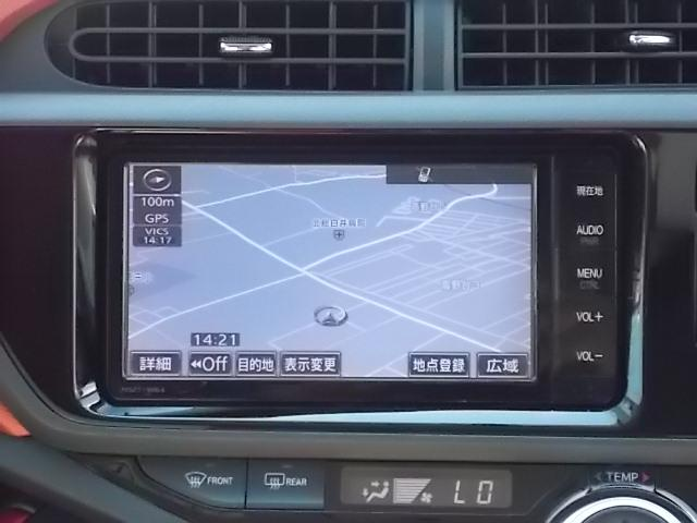トヨタ アクア S フルセグSDナビ Bカメラ スマートキー 全国1年保証付
