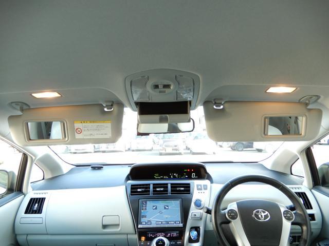 運転席と助手席サンバイザー裏には照明付きバニティーミラー付き。