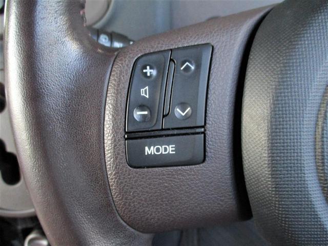 ステアリングの手元にはオーディオの操作ができるスイッチが付いてます☆