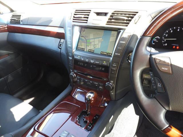 レクサス LS LS600hL ナビ地デジBモニタSR黒革エアSマクレビ