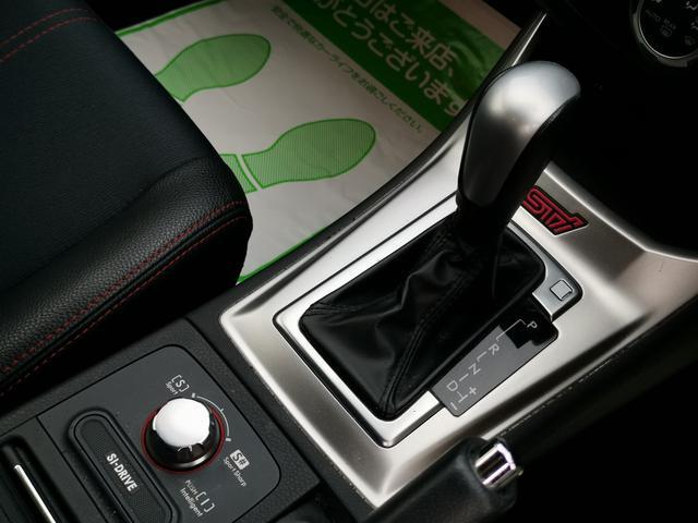 WRX STI Aライン カロッツェリアナビ地デジ Bカメラ 黒ハーフ革シート HIDライト パドルシフト 社外4本出しマフラー STiフロントリップスポイラー 純正18インチAW ブルートゥース(16枚目)
