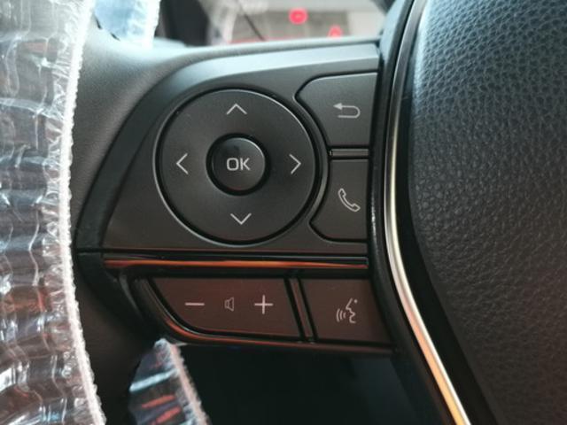 ハンドル左側スイッチでオーディオモードチェンジや音量調整が可能!視線ズラさず安全・安心♪