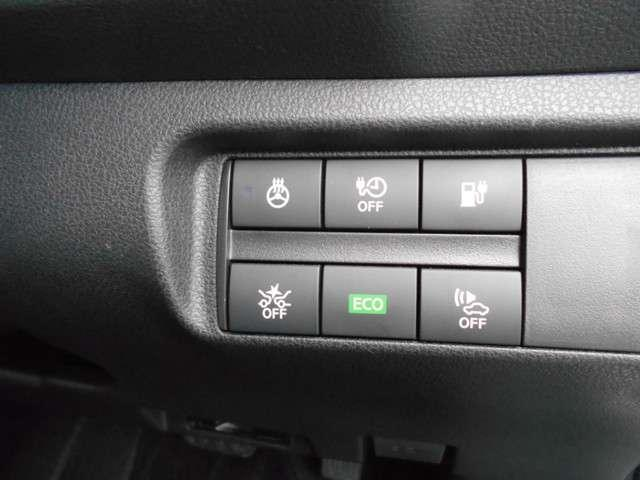インテリエマージェンシーBK:カメラで前方車両や歩行者検知。衝突可能性が高・警告表示とブザーで注意喚起、運転者回避操作を促し・運転者が安全に減速できない⇒自動緊急ブレーキ作動⇒衝突回避、被害や傷害軽減