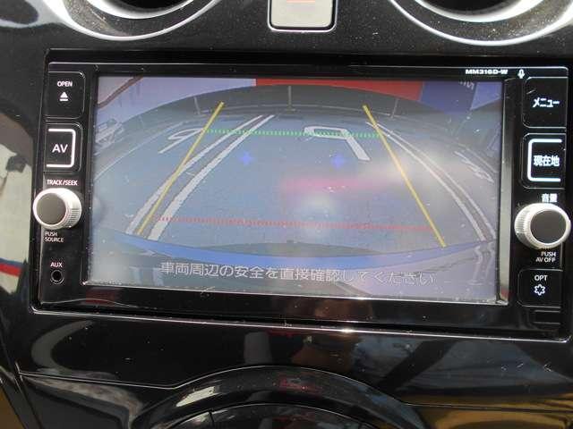 バックカメラ付 後方視界を確保して安心駐車できます。