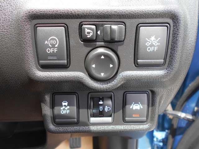 被害軽減ブレーキ、横滑り防止、アイドリングストップ等、安全と環境、燃費に配慮した装備